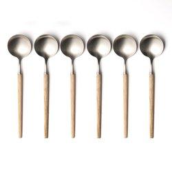 Κουτάλια της σούπας από ξύλο και inox Emako (σετ των 4)