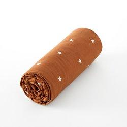 Σεντόνι με λάστιχο από βιολογικό βαμβακερό περκάλι Stella