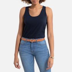 Αμάνικη μπλούζα από βιολογικό βαμβάκι με αθλητική πλάτη