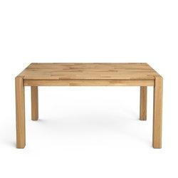 Τραπέζι Adelita από μασίφ βελανιδιά με 2 επεκτάσεις