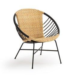 Στρογγυλή καρέκλα από ρατάν και μέταλλο, NIHOVE