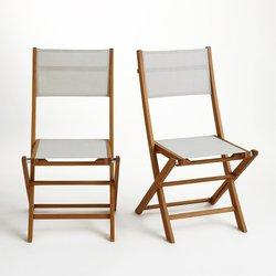 Αναδιπλούμενη καρέκλα από μασίφ, σετ των 2