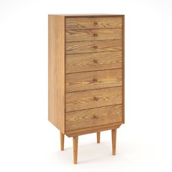 Συρταριέρα vintage με 7 συρτάρια Quilda