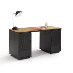 Γραφείο από βελανιδιά και μέταλλο AGAMA