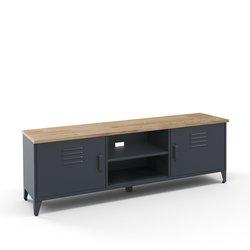 Έπιπλο τηλεόρασης από ατσάλι και ξύλο δρυς, Hiba