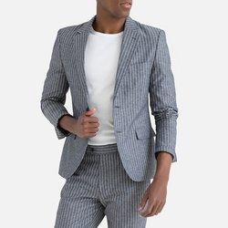 Σακάκι κοστουμιού με ρίγες και μεσάτη γραμμή