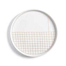Σετ από 4 πιάτα πορσελάνης για επιδόρπιο ACAO