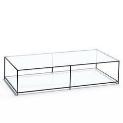 Ορθογώνιο τραπέζι σαλονιού από γυαλί ,Sybil