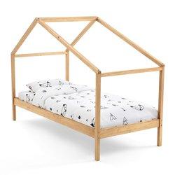 Κρεβάτι με ουρανό από μασίφ ξύλο πεύκου, Spidou