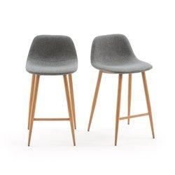 Καρέκλα-σκαμπό μπαρ, NORDIE (σετ των 2)