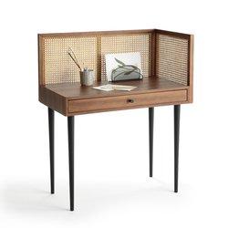 Γραφείο vintage με ψάθα, NOYA