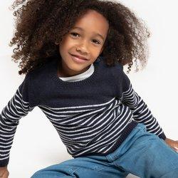 Ριγέ πλεκτό σε στυλ μαρινιέρας, 3 - 12 ετών