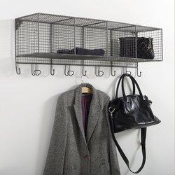 Μεταλλική ραφιέρα τοίχου με 9 γάντζους, AREGLO