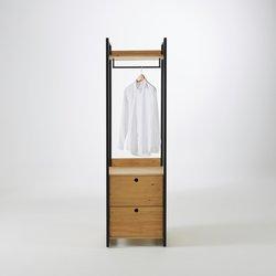 Μονάδα ντουλάπας με 2 συρτάρια και 1 ράβδο, HIBA