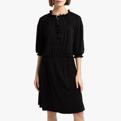 Κοντό ζέρσεϊ φόρεμα με μανίκια 3 4