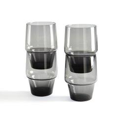Σετ 4 ποτήρια που τοποθετούνται το ένα πάνω στο άλλο, Moly