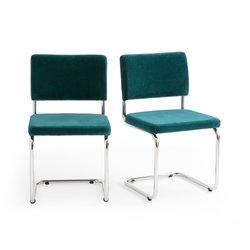 Σετ 2 βελουτέ καρέκλες «πρόβολος», Sarva