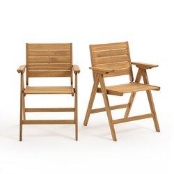 2 πτυσσόμενες πολυθρόνες από ξύλο ακακίας, Realto