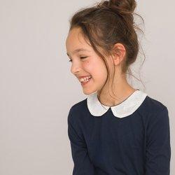 Μακρυμάνικη μπλούζα με στρογγυλό γιακά, 3-12 ετών