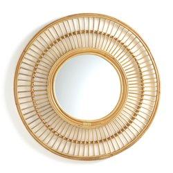 Στρογγυλός καθρέφτης από ρατάν Δ90 εκ., Nogu