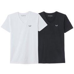 Σετ 2 Τ-shirt με λαιμόκοψη V, Gift