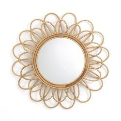 Καθρέφτης από ρατάν σε σχήμα διπλού λουλουδιού Δ60 εκ., Nogu