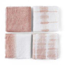 Σετ 4 πετσέτες φαγητού tie & dye, Sunrise