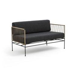 Διθέσιος καναπές κήπου από μέταλλο και σχοινί, Filaria