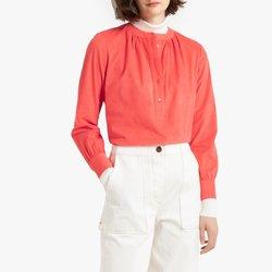 Μπλούζα με λαιμόκοψη κελεμπίας και μανίκια 3 4