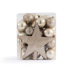 Κουτί με 33 χριστουγεννιάτικα στολίδια στο χρώμα της πέρλας, Caspar
